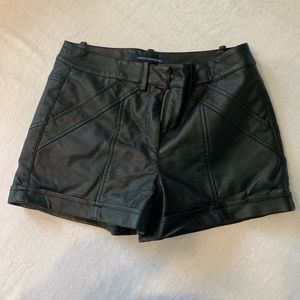 FRENCH CONNECTION Adorable Leather Moto Shorts